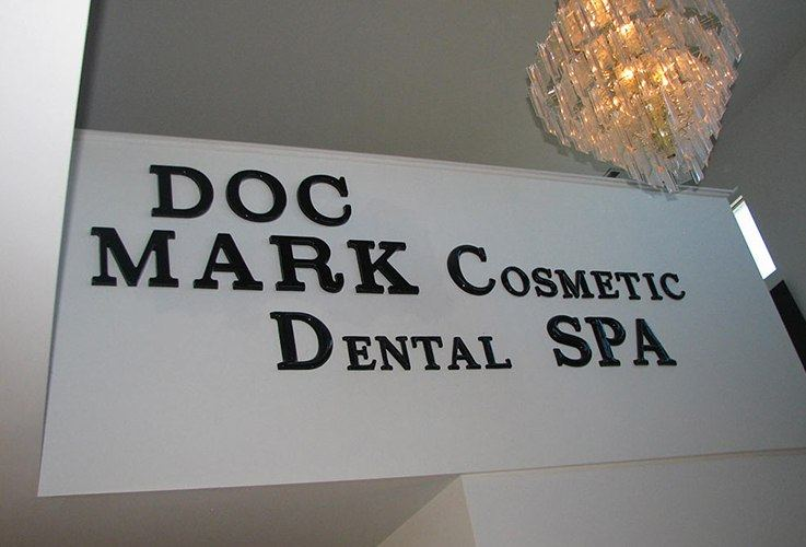 DocMark.com sign inside of dental office