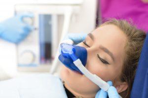woman wearing a nasal mask