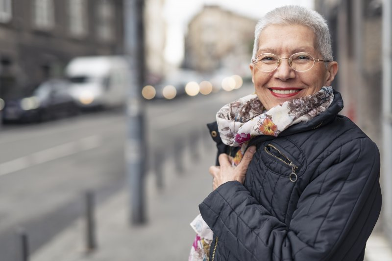 Senior woman with Invisalign